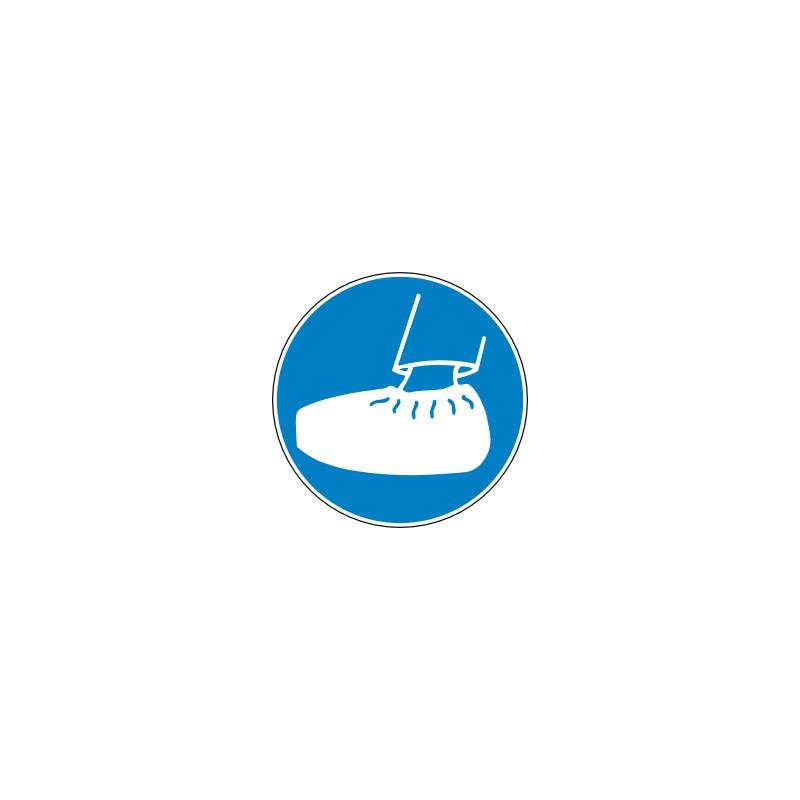Panneau port de surchaussure obligatoire