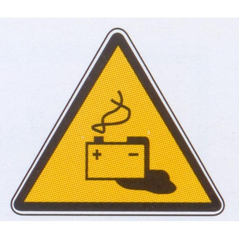 Panneau danger batterie