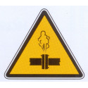 Panneau danger vapeur chaude