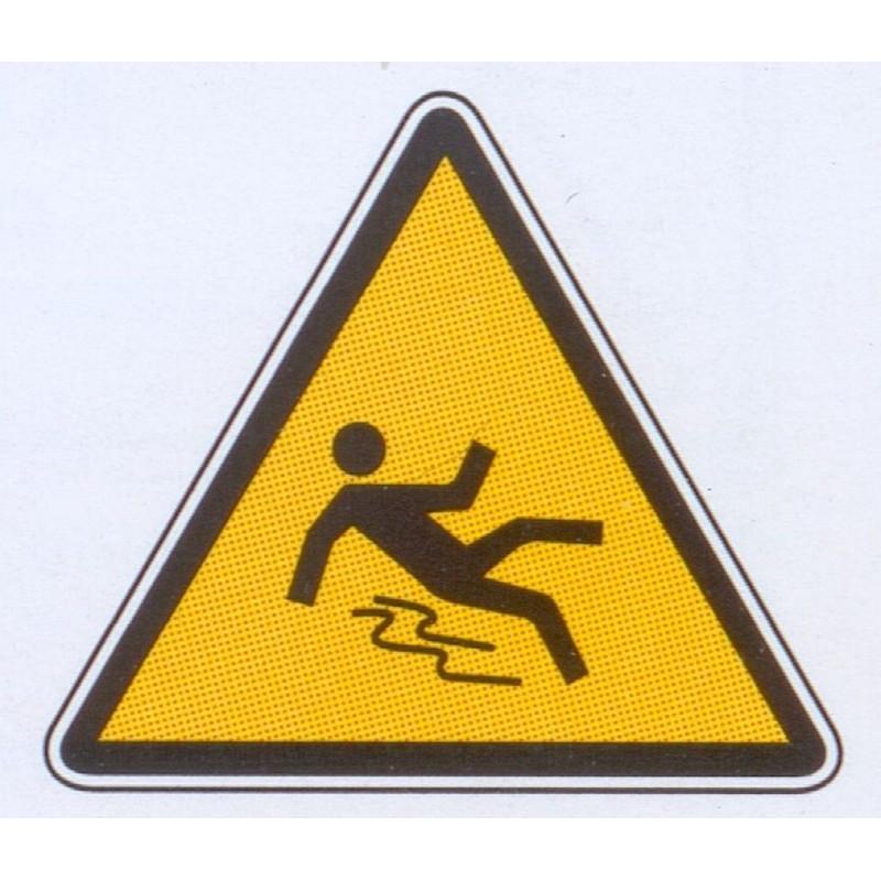 Panneau danger de glisser