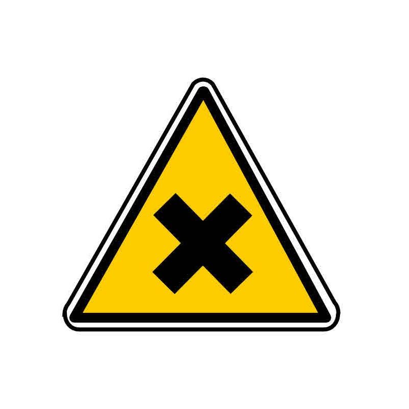 Panneau ou autocollant danger produits nocifs