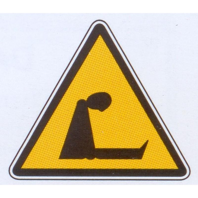 Panneau danger d'asphyxie
