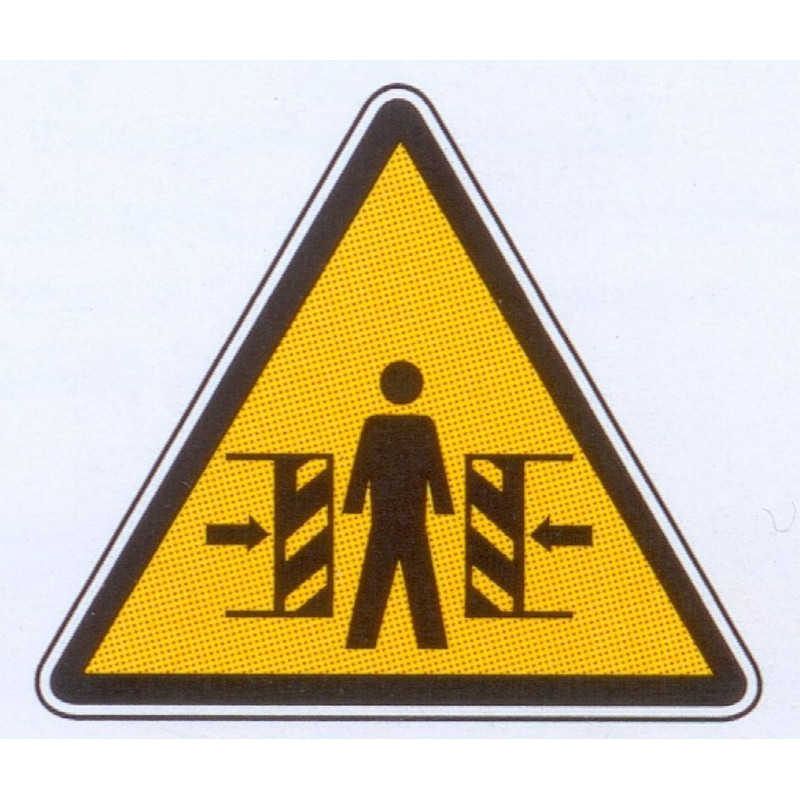 Panneau danger d'écrasement