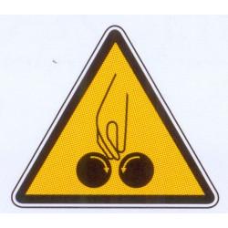 Panneau danger d'écrasement des doigts