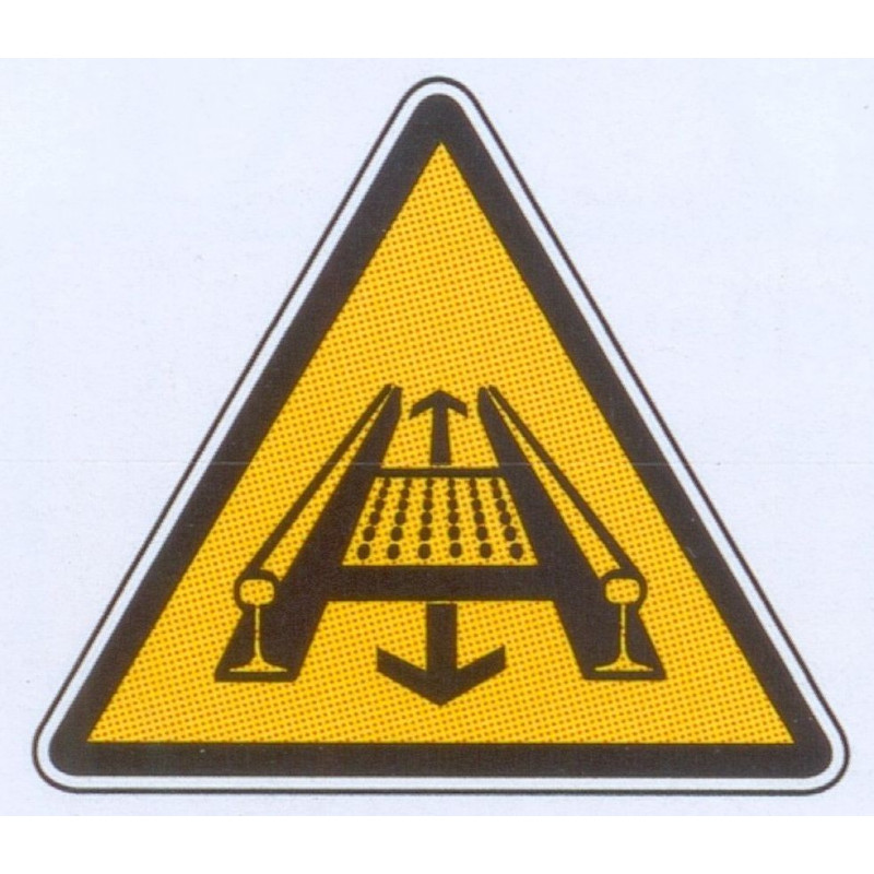 Panneau danger installation rotante