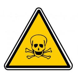 Panneau ou autocollant danger produits toxiques