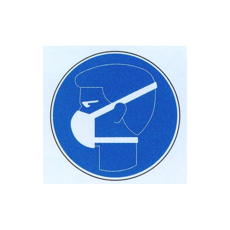 Panneau port d'un masque respiratoire obligatoire