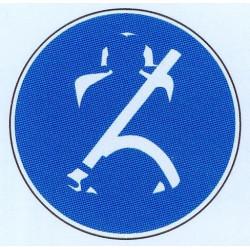 Panneau ceinture de sécurité obligatoire