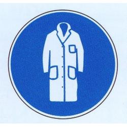 Panneau port d'une blouse obligatoire