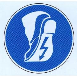 Panneau port de chaussures conductrices obligatoire