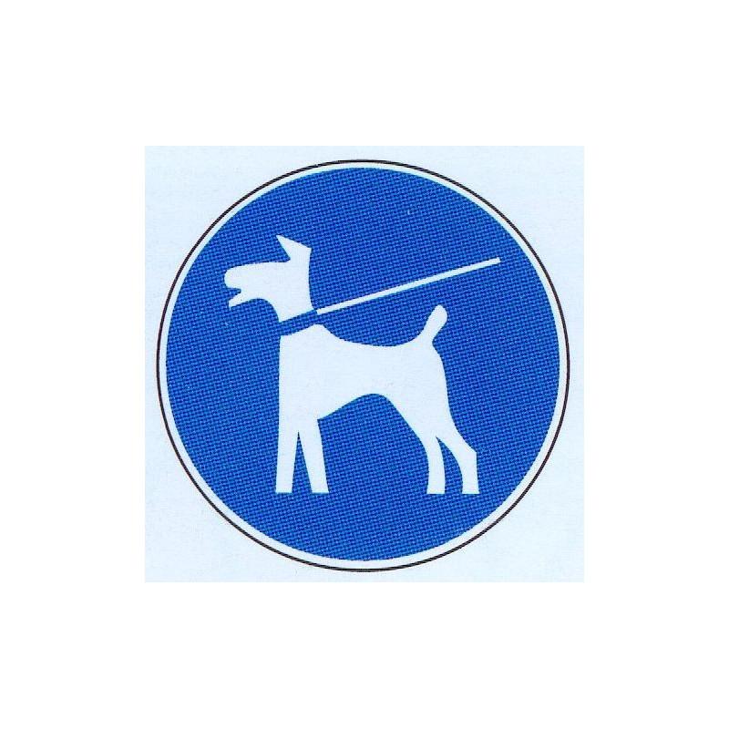 Panneau maintenir son chien en laisse obligatoire