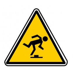 Panneau ou autocollant danger risque de trébucher