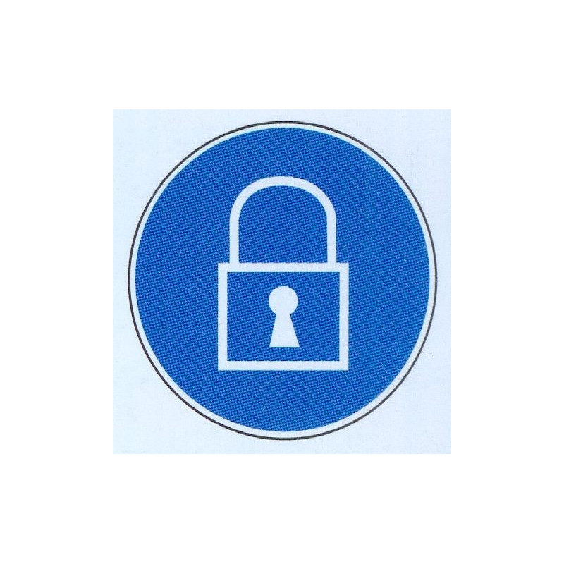 Panneau utilisation d'un cadenas obligatoire