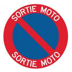 Panneau interdiction de stationner sortie moto