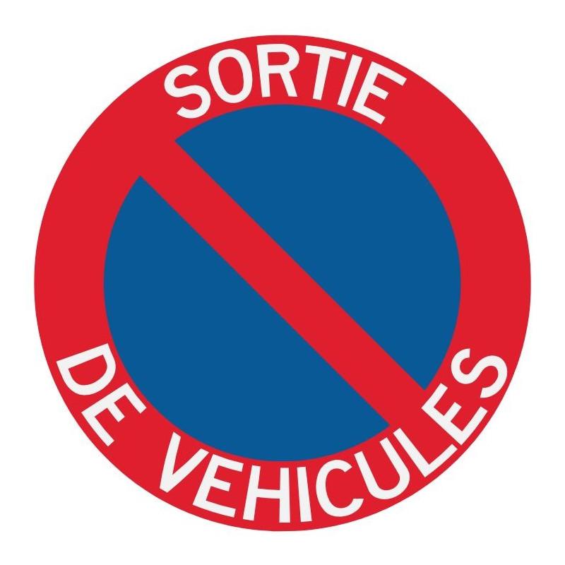 Panneau interdiction de stationner sortie véhicules