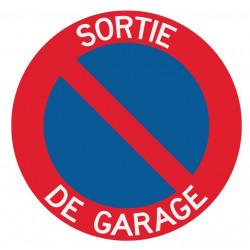 Panneau interdiction de stationner sortie garage