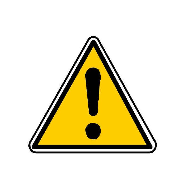 Panneau ou autocollant danger sans précision particulière