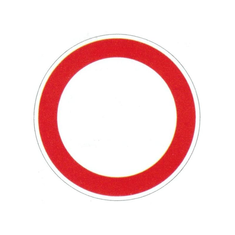 Panneau interdiction aux véhicules de tous types