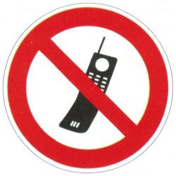 Panneau interdiction aux portables