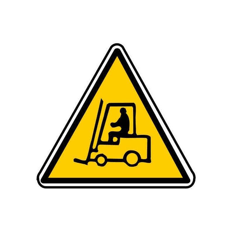 Panneau ou autocollant danger passage chariot