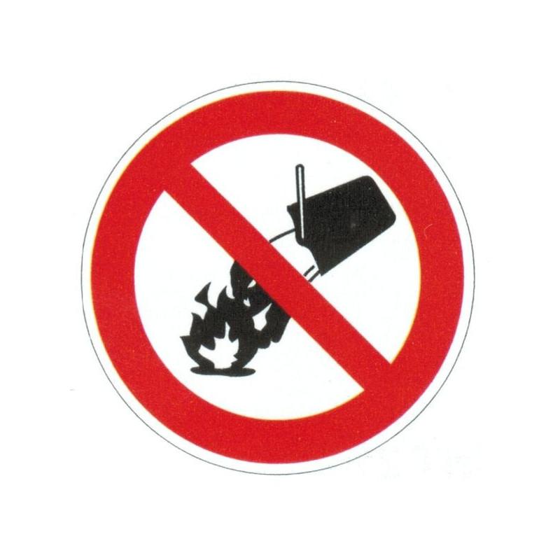 Panneau interdiction d'éteindre avec de l'eau