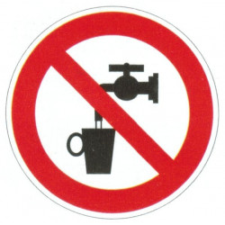 Panneau eau non potable