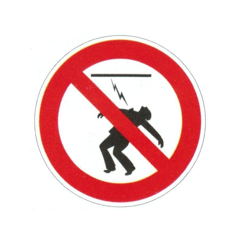 Panneau interdiction de toucher haute tension