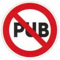 Panneau interdiction de mettre de la pub