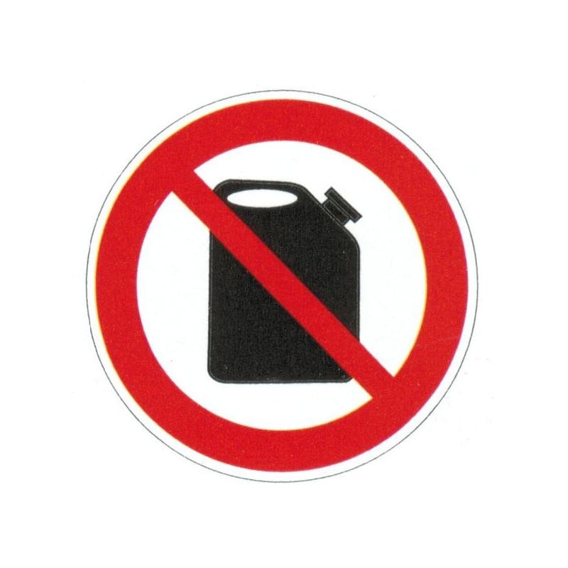 Panneau interdiction aux produits dangereux