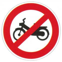 Panneau interdiction aux vélomoteurs