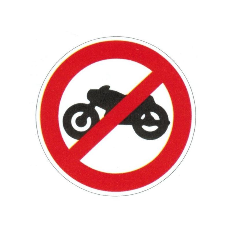Panneau interdiction aux motocyclettes