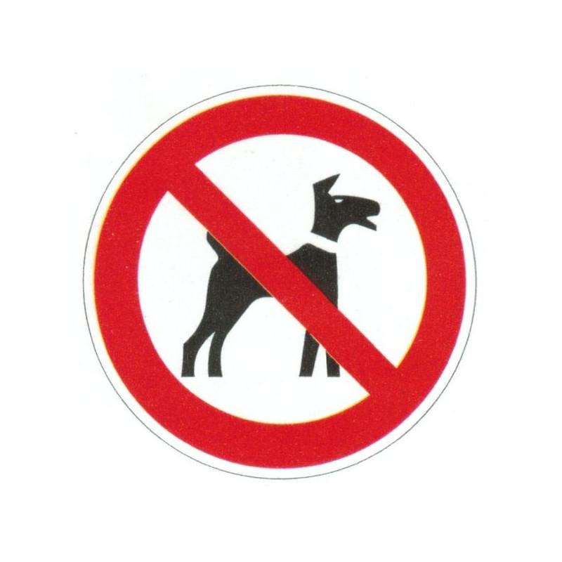 Panneau interdiction aux animaux