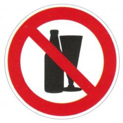 Panneau interdiction aux boissons alcoolisée