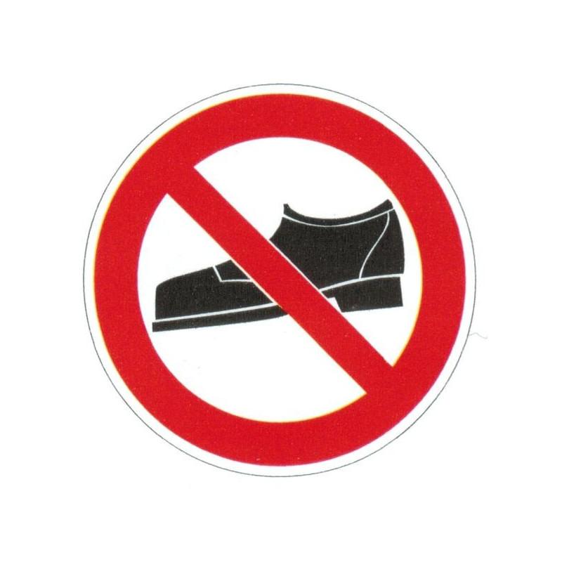 Panneau interdiction aux chaussures