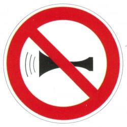 Panneau interdiction de klaxonner