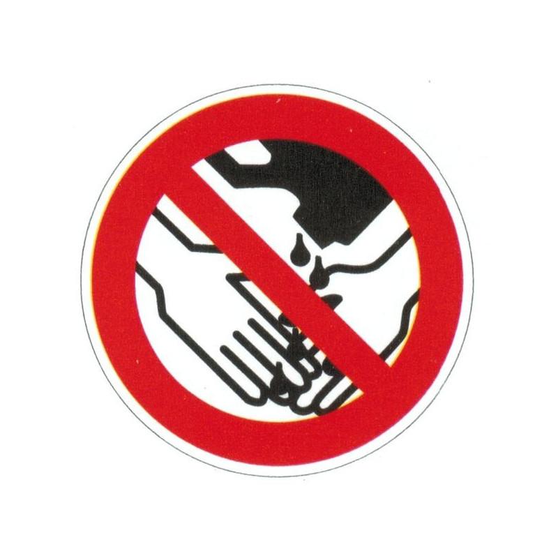 Panneau interdiction d'utiliser des solvants