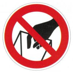 Panneau interdiction de prendre dans les sacs