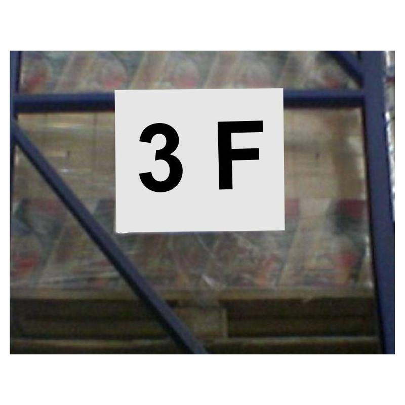 Pancarte d'indication 3 caractères