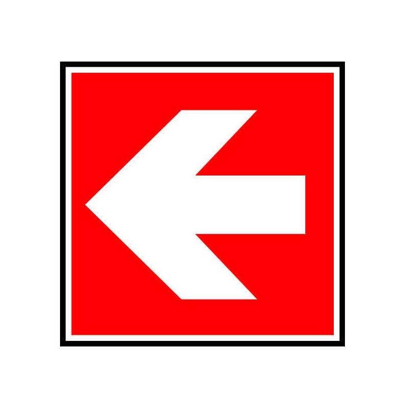 Panneau ou autocollant indiquant de suivre la direction à gauche