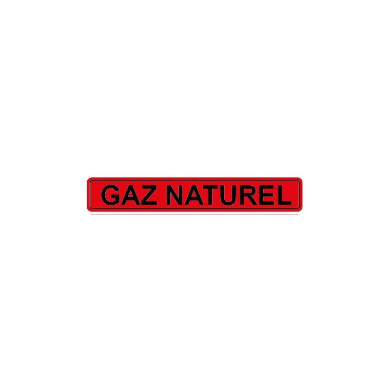 Autocollant pour tuyau gaz naturel rouge