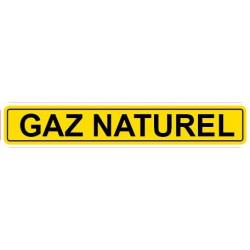 Autocollant pour tuyau gaz naturel jaune