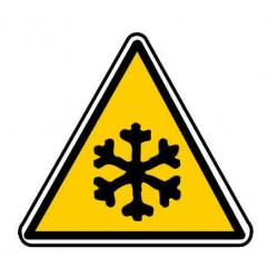 Panneau ou autocollant danger basse température