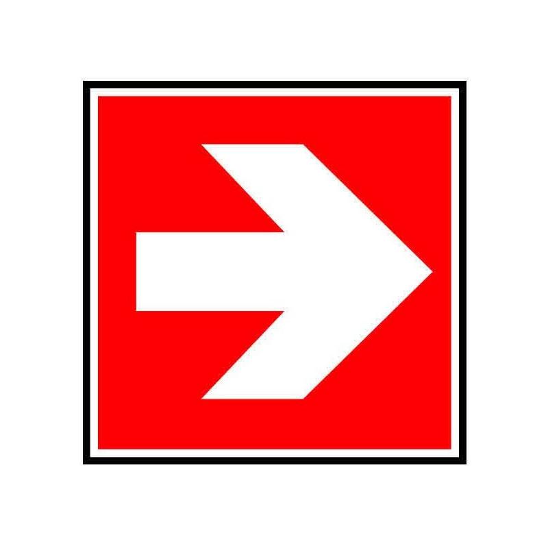 Panneau ou autocollant indiquant de suivre la direction à droite