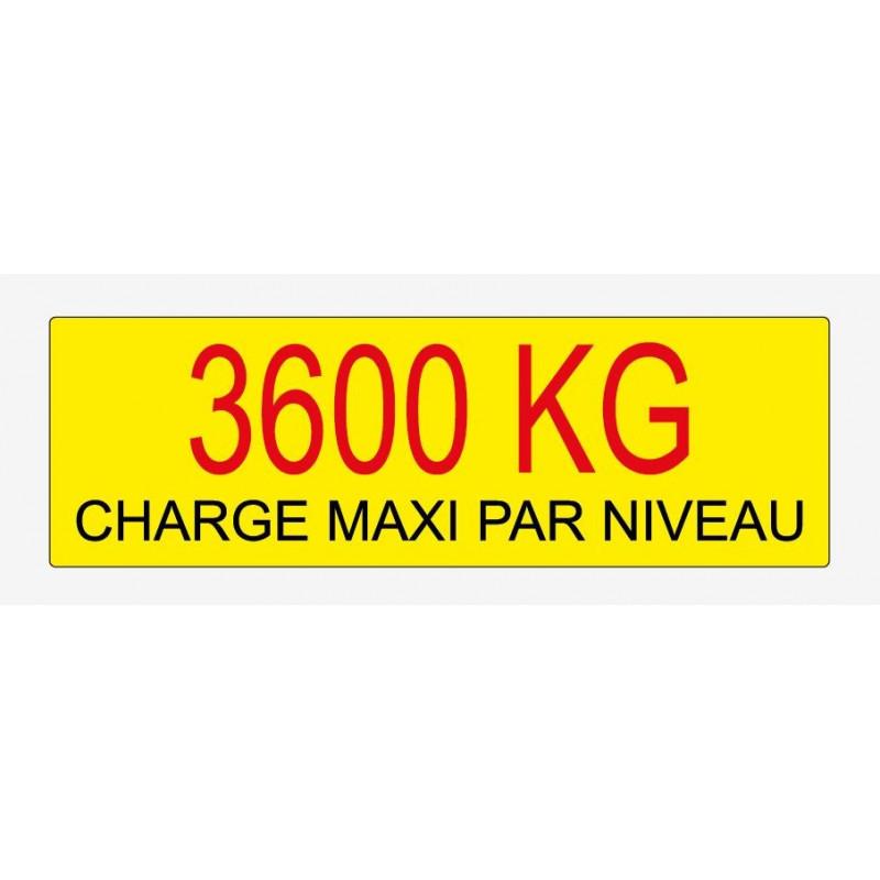 Etiquette de charge 250x80 mm écriture noir et rouge sur fond jaune