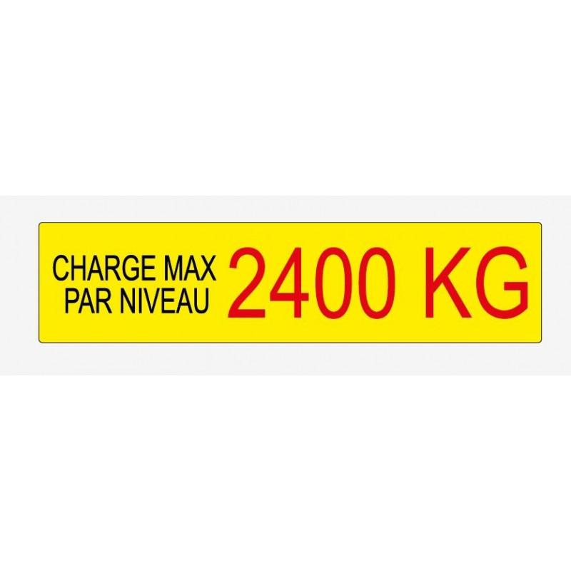 Etiquette de charge 230x55 mm écriture noir et rouge sur fond jaune