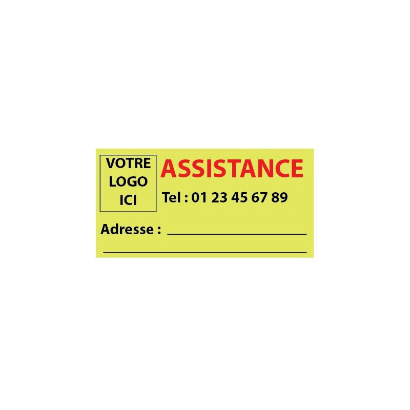 10 Stickers de contact pour assitance