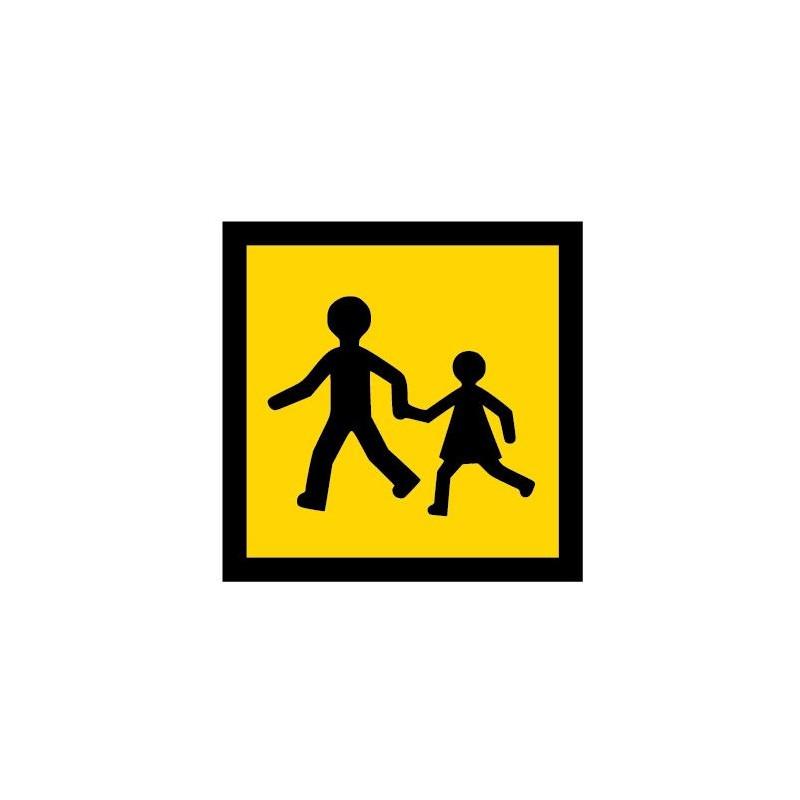 Panneau ou autocollant transport d'enfant