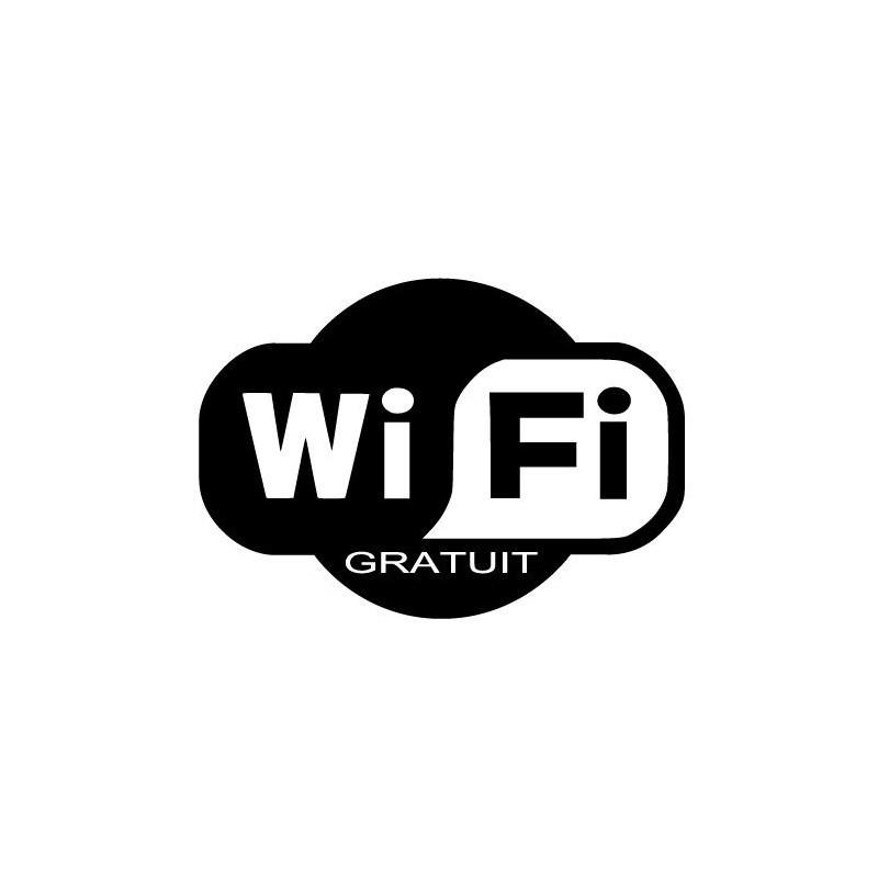 Panneau ou autocollant présence réseau wifi gratuit