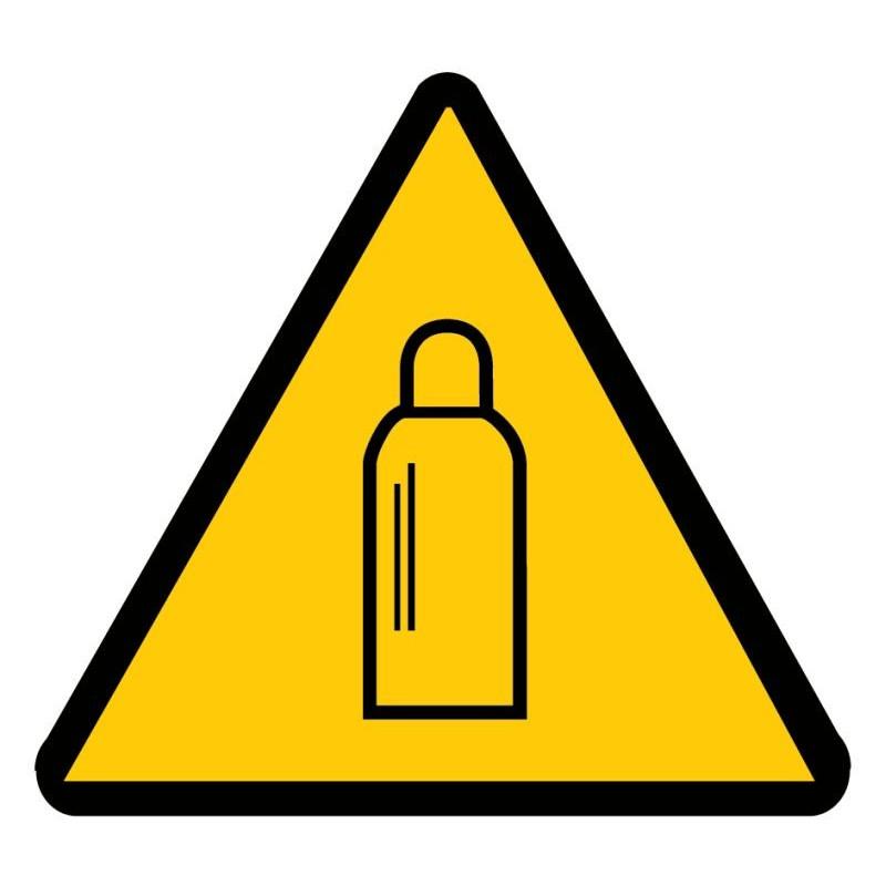 Panneau danger bouteille de gaz