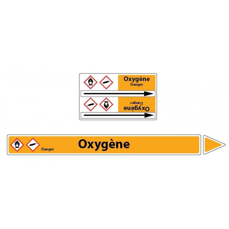 Marqueur de tuyaux CLP Oxygène